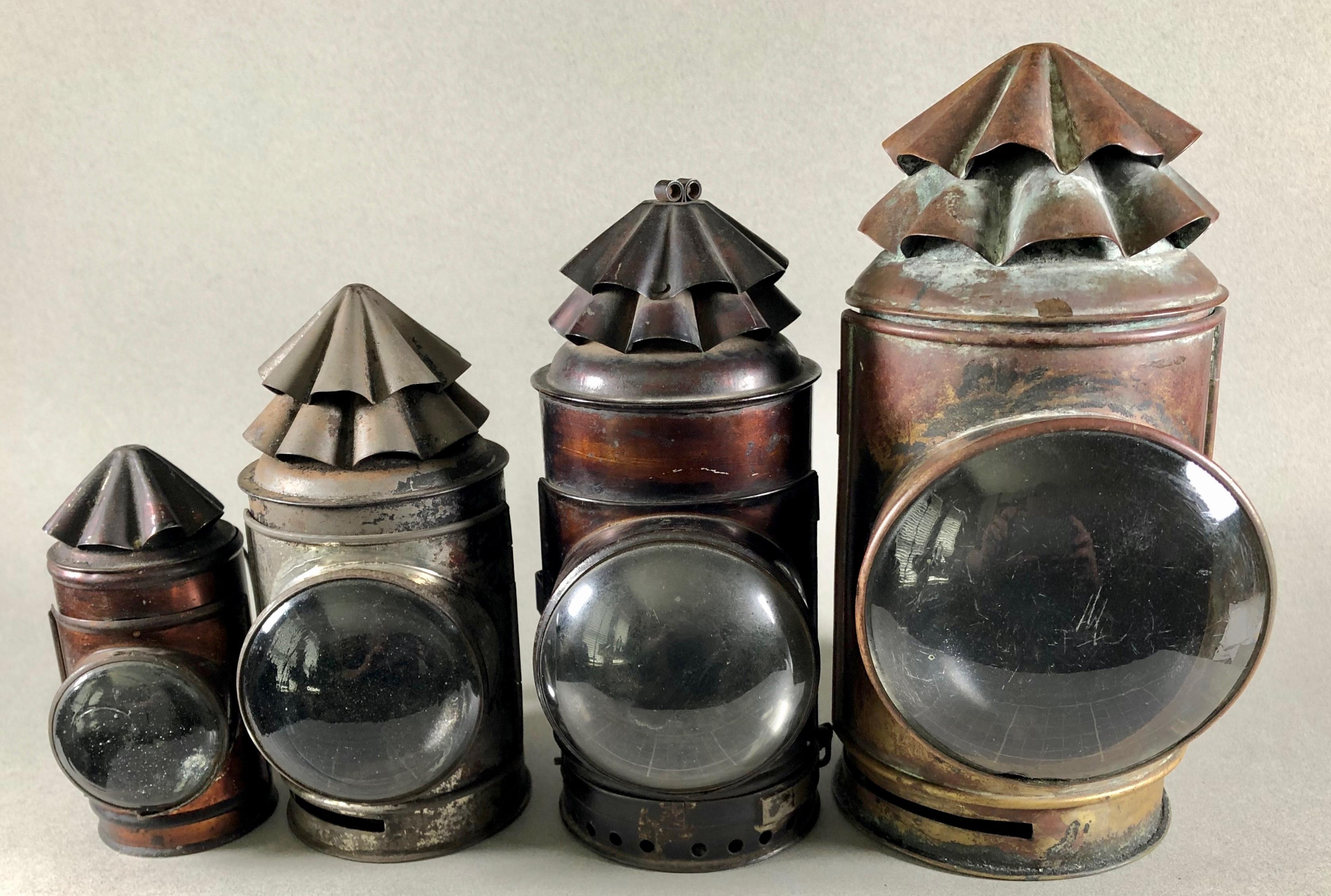 Dark Lanterns, four sizes