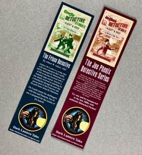Dark Lantern Tales bookmark, side one and two