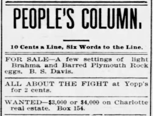 YOPP'S Fight, 1897 ad
